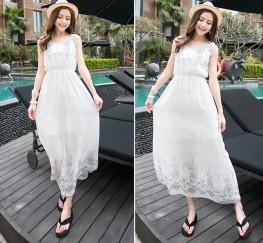Đầm maxi trắng sự quyến rũ khó cưỡng đến từ màu sắc