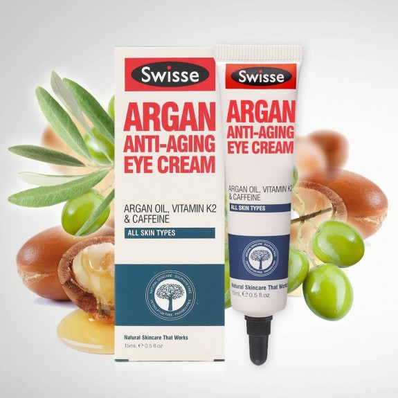 Kem mắt Swisse Argan Anti Ageing Eye Cream 15ml - Úc