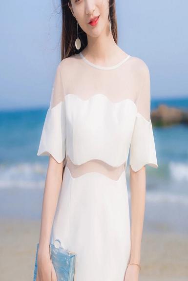 Đầm ôm body gợn sóng