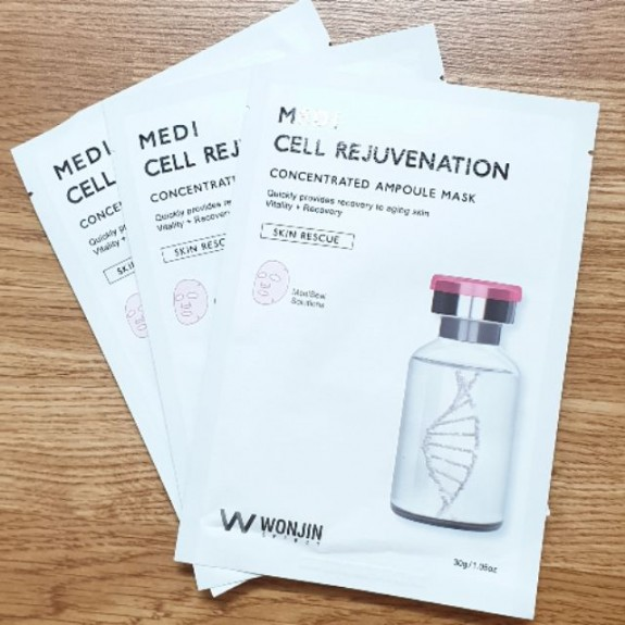Mặt Nạ Phục Hồi Da, Trẻ Hóa, Nâng Cơ,Săn Chắc Da Wonjin Effect Medi Cell Rejuvenation Mask 30ml