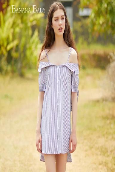 Đầm body sơ mi