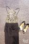 Đầm ôm body ren mạ vàng sang trọng