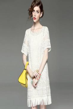 Đầm ren suông nữ