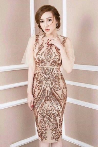 Đầm ôm body ren hoàng gia